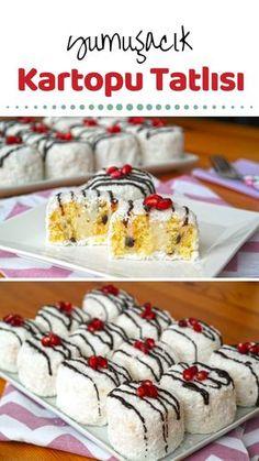 Kartopu Tatlısı (videolu) - Nefis Yemek Tarifleri Snowball Dessert (with video) How to make a recipe? Here is a picture description of this recipe in the book of people and photographs o Mini Desserts, Just Desserts, Dessert Recipes, Tiramisu Dessert, Molten Lava Cakes, Dessert For Dinner, Food Design, Sweet Recipes, Yummy Recipes