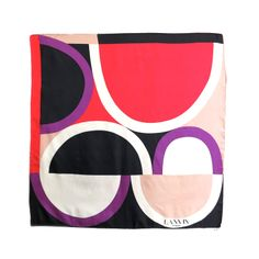 Vintage LANVIN PARIS 1960's era geometric silk scarf | From a collection of rare vintage scarves at http://www.1stdibs.com/fashion/accessories/scarves/