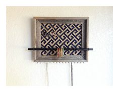 14x17 Barn Wood Jewelry Organizer Navy Greek by AfterTheLeavesFall, $58.00