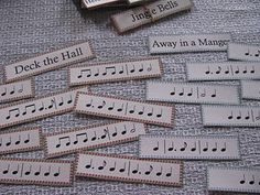Testing aural skills using rhythms of familiar songs to mix and match...help your kids learn to read music!