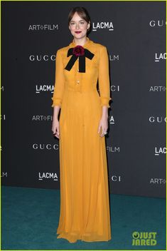 Dakota Johnson Finishes Up Her LACMA Look With a Bow Tie