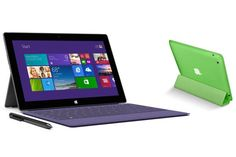 Compared: Microsoft's New Surface Tablets vs. Apple's iPad  Read more: http://techland.time.com/2013/09/23/microsofts-new-surface-tablets-vs-apples-ipad-specs-apps-and-price/#ixzz2flPA6uyl