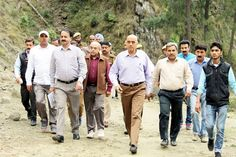 Advisor to Governor Parvez Dewan during inspection of traditional route to SMVDS on Friday.