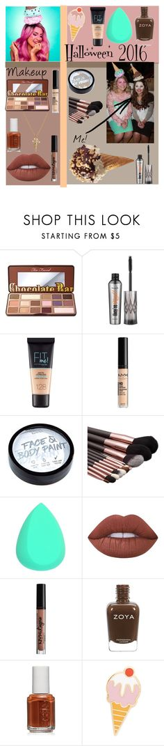 """Ice cream Makeup!"" by merrykate2000 ❤ liked on Polyvore featuring beauty, Too Faced Cosmetics, Benefit, Maybelline, NYX, Lime Crime, Essie, Georgia Perry and Marc Jacobs"