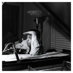 """Horace Silver, """"Lee Morgan Volume II"""" session, Hackensack, New Jersey December 2, 1956 Photo Francis Wolff"""