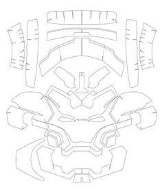 Iron Man Mark 42 Costume Helmet DIY - Cardboard build with template dali-lomo: iron man paper FREE template :) pdo by: Blackouts Iron Man Cosplay, Cosplay Armor, Cosplay Diy, Iron Man Helmet, Iron Man Suit, Iron Man Armor, Cardboard Costume, Cardboard Mask, Cardboard Crafts
