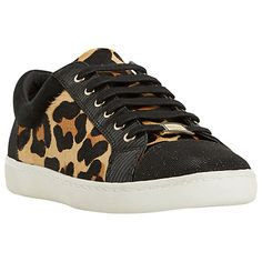 online store 5ef7b 169fe Dune Edgware Mixed Material Round Toe Trainers at John Lewis  Partners