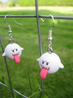 Super Mario Earrings - Boo. $9,00, via Etsy.
