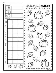 PRINT AND GO! APPLES, PUMPKINS, & LEAVES - Fall Kindergarten practice pages to save your ink and time! Great for morning work, homework, or centers. Use these all season long from September through November! Happy Teaching! $