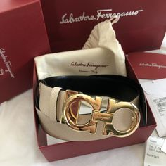 Salvatore ferragamo belt for Sale in Yorba Linda, CA - OfferUp Designer Belt Bag, Designer Belts, Mens Belts Fashion, Fashion Shoes, Gold Gucci Belt, Bag Closet, Luxury Belts, Women Brands, Belts For Women