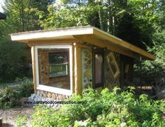How about a cordwood chicken coop? or just a nice garden hangout! with no harmful pesticides and fertilizers you don't have to worry about your chickens, or your children for that matter!