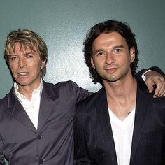 Mr. Dave Gahan with the late great David Bowie. What a complete shock and terrible loss.