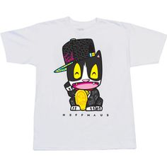 This Neff T-shirt depicts Neffmau5 Meow Meow. What else would you call a cat wearing a hat?