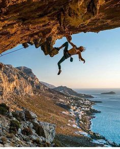 From @doyouclimb | @rannveigaamodt climbing in Kalymnos, Greece. Photo by @chrisburkard | Posted on February 20, 2017 #rockclimbing #sportclimbing #climbing_pictures_of_instagram #climbing_is_my_passion
