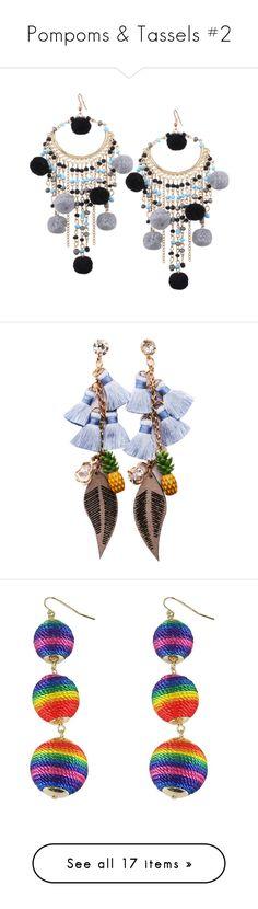 """Pompoms & Tassels #2"" by kikikoji ❤ liked on Polyvore featuring jewelry, earrings, zaful, beads jewellery, beaded tassel earrings, tassel earrings, beading jewelry, beaded earrings, tassle earrings and earring jewelry"
