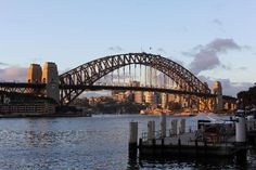 Sydney Harbour Bridge: Bridge in late afternoon #Australia