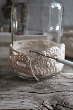 (notitle) - Christmas craft show ideas - Crochet Video, Diy Crochet And Knitting, Crochet Amigurumi, Crochet Gifts, Free Crochet, Diy Home Accessories, Crochet Accessories, Mason Jar Crafts, Bottle Crafts