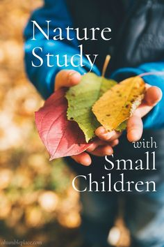 Nature Study with Small Children - ahumbleplace.com #charlottemason #naturestudy #homeschool Play Based Learning, Home Learning, Learning Through Play, Learning Resources, Early Learning, Teaching Ideas, Preschool Kindergarten, Preschool At Home, Science Curriculum