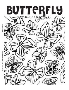 LUV 2 LRN Printable Page {English} | butterfly | Please Like √ Share√ Comment √ Tag √ and Pin it √