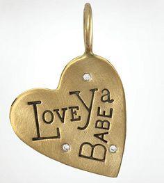 Love Ya Babe Heart Charm