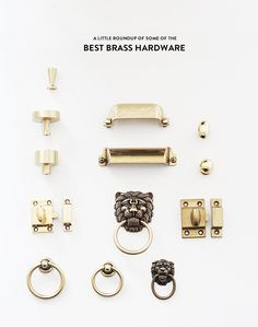 Little House Blog: roundup of some of the best brass hardware