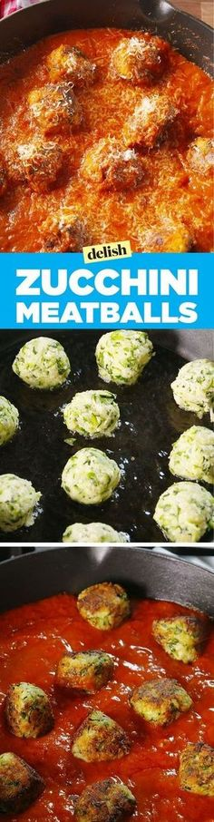 Zucchini meatballs   What an awesome meat substitute for the vegetarian who loves spaghetti and meatballs!