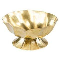Ca. 1923 Documented Gold Gilded Brass Ashtray Josef Hoffmann Wiener Werkstatte