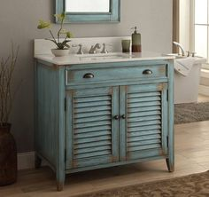 "36"" Cottage look Abbeville Bathroom Sink Vanity Cabinet - Model # CF28884BU"