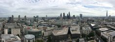Panoramic Photo from St. Pauls Dome to the Financial City of London or The Square Miles as it is known.