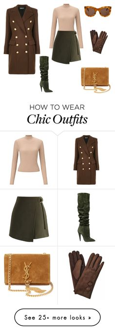"""""""look of the day"""" by lifeinblond on Polyvore featuring Balmain, Miss Selfridge, Chicwish, Yves Saint Laurent and Illesteva"""