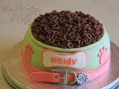 "Dog Bowl cake - Bowl Dog Cake for 4"" birthday of my sweet pug Wendy..."