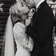 THESE MOMENTS / See more of Sophie + Sam's modern wedding on the @hellomaymagazine blog. Gown - Long-sleeved BESPOKE lace combination gown @kwhbridal @vanmiddletonphotography • entertainment - @thewhitetree• Venue + Florist - @dust_temple // Follow us @kwhbridal