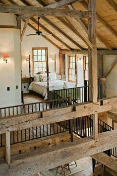 restored barn house - loft or sleeping quarters upstairs
