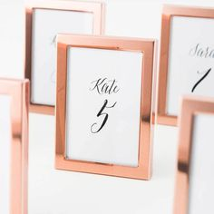 236648e4080b Small Rose Gold Picture Frames for Place Cards - Set of 3 Frames