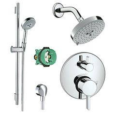 Hansgrohe KSH04447-27495-66PC Raindance Shower Faucet Kit with Handshower Wallbar PBV Trim with Diverter and Rough, Chrome Hansgrohe http://www.amazon.com/dp/B00R6EYW20/ref=cm_sw_r_pi_dp_mgxRwb11WR369