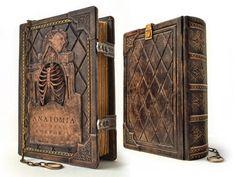 Anatomia Humani Corporis, 11 x 8 inches, ultimate Renaissance anatomical sketchbook, Medieval leather journal, Da Vinci sketchboo