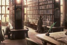 Severus in the library // Artist: ジル@ついったー (jill)