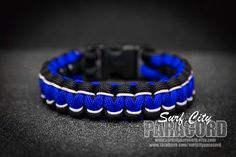 Two Color Paracord Solomon Bar / Cobra by SurfCityParacord on Etsy