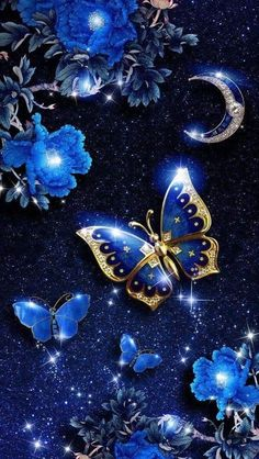 It is… Elegant blue butterfly live wallpaper! It is originally designed by Ahatheme! Blue Butterfly Wallpaper, Butterfly Live, Butterfly Background, Flower Phone Wallpaper, Butterfly Pictures, Cellphone Wallpaper, Flower Images, Android Wallpaper Blue, Bling Wallpaper