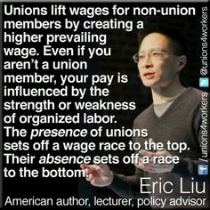 No union means you're an employee-at-will and your employer can fire you for any reason or no reason. Union contracts mean employers can only fire you, change your wages/hours of work for just cause.