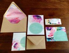 Watercolor Wedding Invitation Suite Dotty von ShopPaperGarden