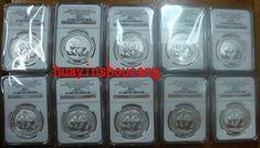 2009 10pcs 1oz 30th anniversary of modern commemorative silver panda coins NGC69