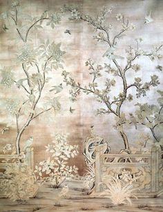 On: Gracie Wallpaper Who would have thought wallpaper could be so beautiful.Who would have thought wallpaper could be so beautiful. Thought Wallpaper, Gracie Wallpaper, Of Wallpaper, Designer Wallpaper, Wallpaper Designs, Metallic Wallpaper, Beautiful Wallpaper, Wallpaper Panels, Silver Chinoiserie Wallpaper