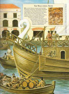 scene in a Roman port