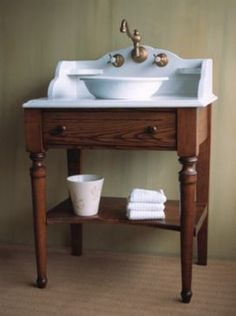 Double Sink Vanity, Sharing the restroom in the early morning can be hard with just one sink. If you share the restroom in the morning with your household or better half, then a double vanity will give you all space to stretch out. Rustic Bathroom Vanities, Bathroom Vanity Cabinets, Diy Bathroom Decor, Vanity Sink, White Bathroom, Bathroom Furniture, Bathroom Storage, Master Bathroom, Antique Furniture