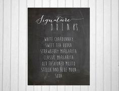 Chalkboard+Drink+Signs++Print+++Signature+Drink+by+ThePaperWalrus,+$2.99