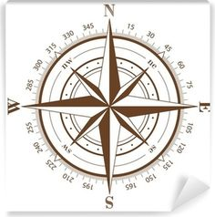 Compass Rose Wall Mural ✓ Easy Installation ✓ 365 Days to Return ✓ Browse other patterns from this collection! Compass Vector, Sextant Tattoo, Nautical Compass Tattoo, Compass Drawing, Wind Rose, Mariners Compass, Geniale Tattoos, Rose Wall, Maori