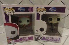 Pop! Funko Set of 2 NIGHTMARE Before Christmas Figures Jack Skellington & Sally