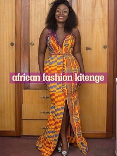 These are the best and stylish kente styles. Kente cloth dress these days can not be ruled out of African dress styles. Kente Dress, Ankara Dress Styles, African Lace Dresses, Kente Styles, Latest African Fashion Dresses, African Print Fashion, African Clothes, African Wedding Attire, African Attire