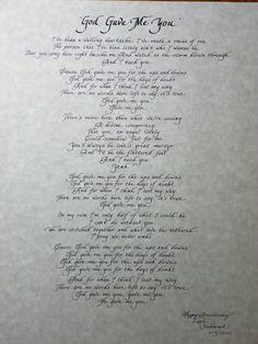 """God Gave Me You"" Song Lyrics"